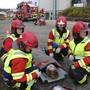 Patientenversorgung am Unfallort.Bilder: Ina Wiedenmann