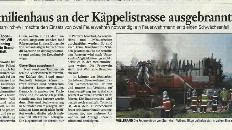 5½ Jahre nach dem Brand vom 28. September 2009 in Starrkirch-Wil urteilte das Bundesgericht im Schadenstreit.