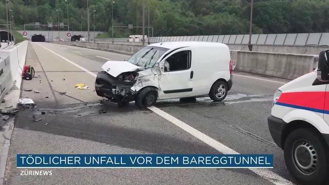 Tödlicher Unfall vor Bareggtunnel