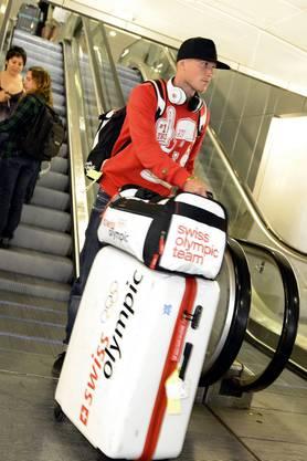 Die Swiss Olympic-Ausrüstung durfte er vorerst behalten
