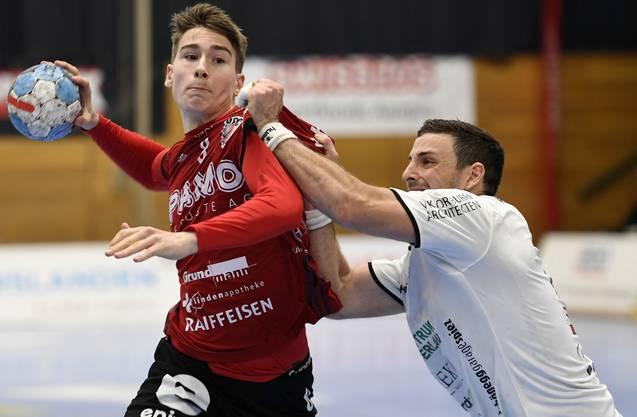 Manuel Zehnder: «Andy Schmid ist ein Idol für mich und die ganze Handball-Schweiz. Ich habe mir nicht erträumt, einmal gegen ihn auf der Platte zu stehen.»