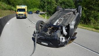 Der Unfallort auf der Laufenstrasse.