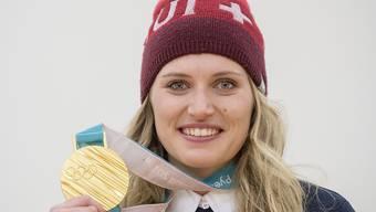 Olympiasiegerin im Teamevent: Denise Feierabend