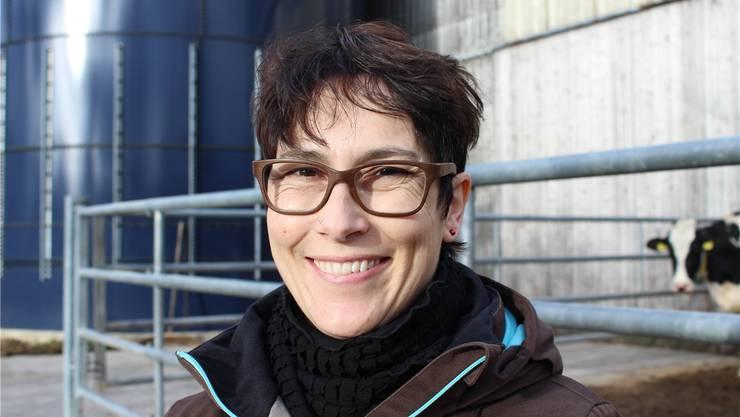 Colette Basler führt zusammen mit ihrem Mann einen Milchwirtschaftsbetrieb.