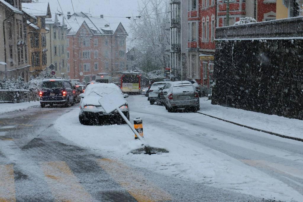 Unfälle Teufener Strasse (© Stapo SG)