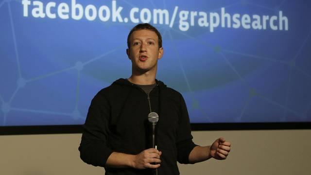Facebook-Chef Mark Zuckerberg während der Präsentation der neuen Suchfunktion