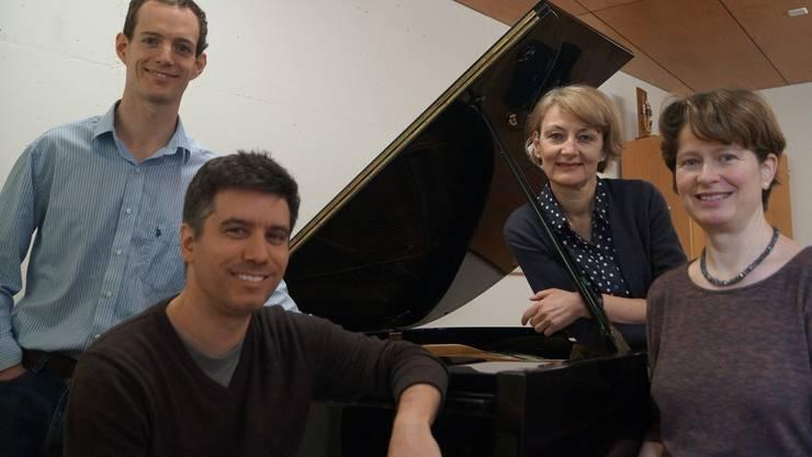 Engagierte Musiklehrer an der Kanti Baden: Jason Peterson, Gregor Loepfe, Katharina Zehnder, Antje Traub (v.l.n.r.).