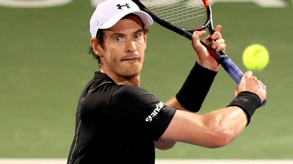 Konzentriert in den Final: Andy Murray