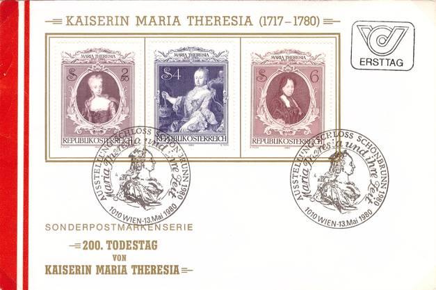 Ersttagsbrief von Österreich mit Maria Theresia