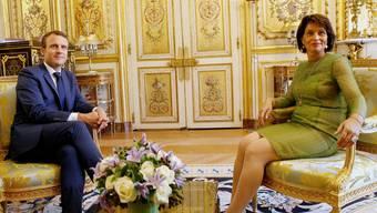Leuthard zu Besuch bei Macron in Paris, Frankreich