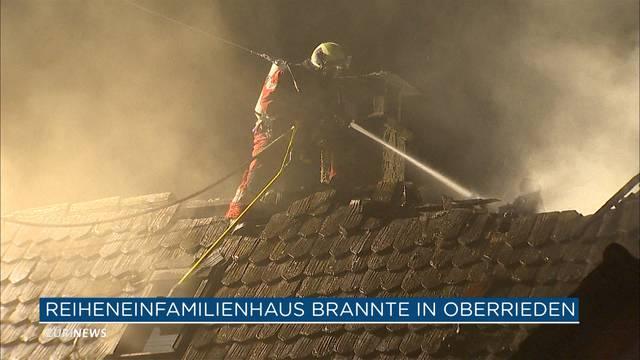Brand in Oberrieden: 100`000 Franken Sachschaden
