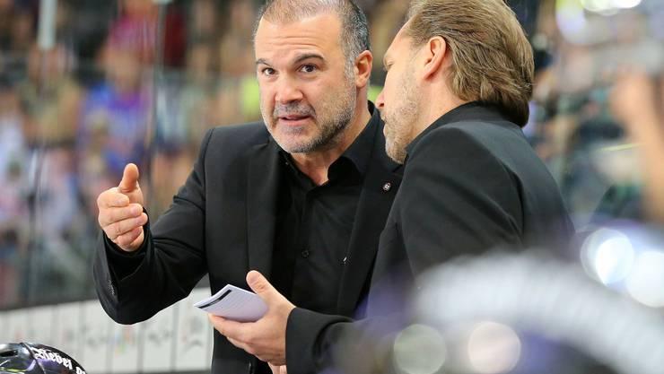 Der neue EHCO-Trainer Maurizio Mansi (l.).