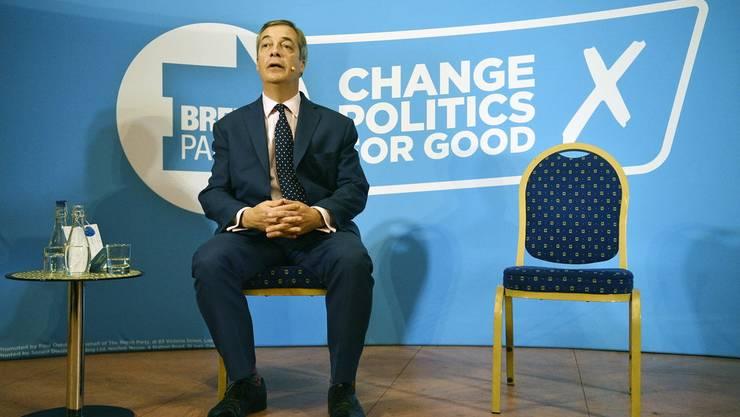 Nigel Farage, Chef der Brexit-Partei.