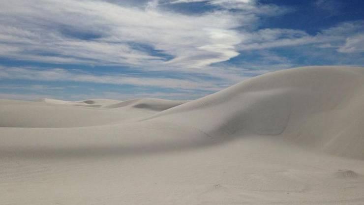 Französischer Knabe überlebt tödliche Hitze im US-Nationalpark White Sands National Monument.