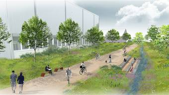 """Unter dem Namen """"Parc des Carrières"""" soll durch die etappenweise Wiederauffüllung von Kiesgruben bis 2025 eine artenreiche und leicht zugängliche Parklandschaft entstehen."""