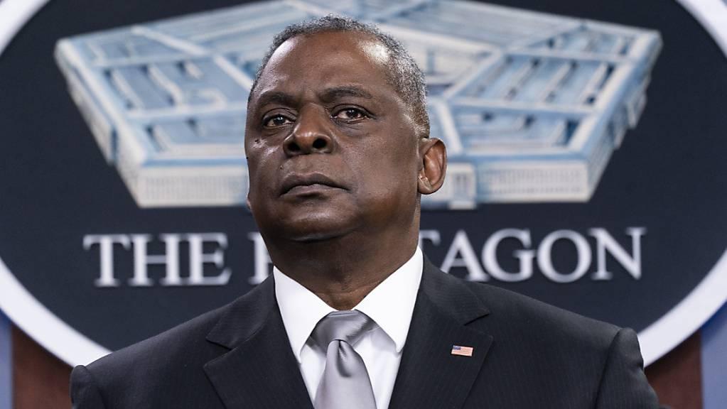 Lloyd Austin, Verteidigungsminister der USA, hält eine Pressekonferenz im Pentagon. (Archivbild)