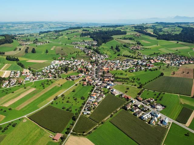 Luftaufnahme der Gemeinde Buttisholz
