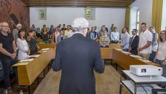 Seit der Vereidigung des Gemeinderates am 5. Juli 2017 sind etliche neue Gesichter im Ratssaal aufgetaucht.