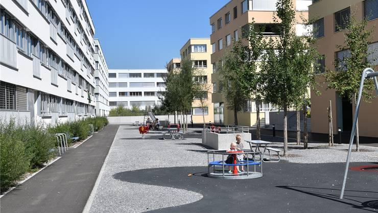 Die Plätze zwischen den neu zu bauenden Gebäuden sollen grösser und grüner werden als bisher in Olten SüdWest.