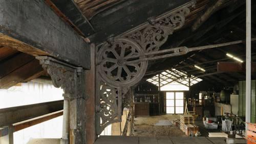 Die alte Bahnhofhalle in Olten wird heute von der SBB als Werkstätte benutzt.