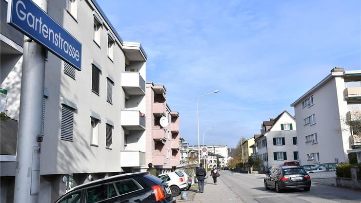 Einst ein ruhiger Stadtflecken, heute gibt es viel Fluchtverkehr: Die Gartenstrasse.