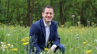 Matthias Betsche, Präsident von Pro Natura Aargau, freut sich über die geplante Umzonung in Villnachern.