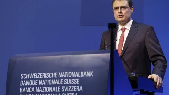 SNB-Präsident Thomas Jordan an der GV am Freitag in Bern
