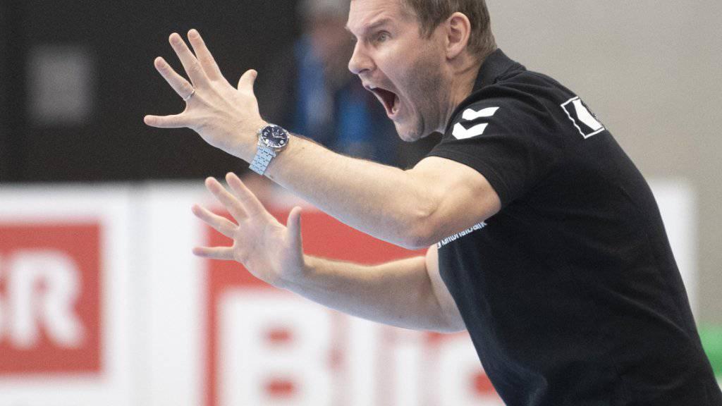 Kadetten Schaffhausens Trainer Petr Hrachovec peitscht seine Schützlinge zu einer kaum mehr für möglich gehaltenen Wende