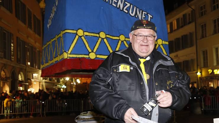 Bööggier Rolf Grau vor seinem grossen Auftritt