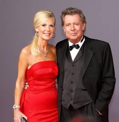 Schauspieler Jan Fedder und Ehefrau Marion an einer Party in Hamburg. (Bild von 2013)