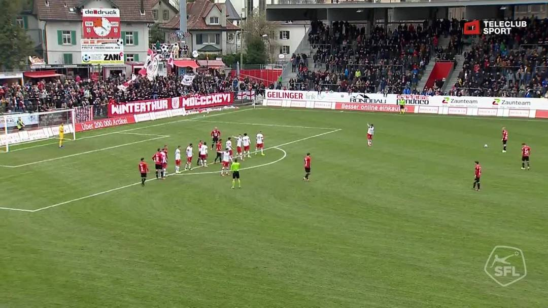 22. Minute: Kopfball aufs Tor durch Nicolas Bürgy nach Freistoss.