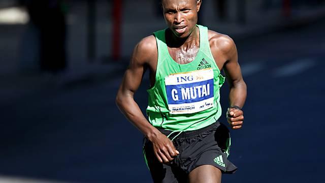 Geoffrey Mutai erneute Sieger in New York.