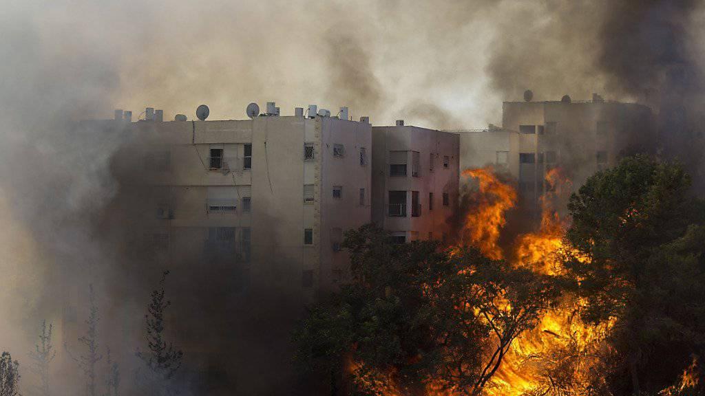 In Haifa brennt es mitten in der Stadt.