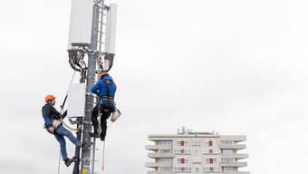 Der Stein des Anstosses: Für 5G müssen Antennen umgerüstet oder neu gebaut werden.