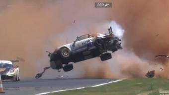 Pedro Piquets Horror-Unfall – in Zeitulupe und noch verrückter: aus der Sicht der Onboard-Kamera.