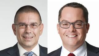 Markus Schneider (CVP) und Roger Huber (FDP)
