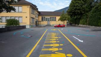 Beim Schulhaus Oberdorf sollen weitere Massnahmen folgen. (Archiv)