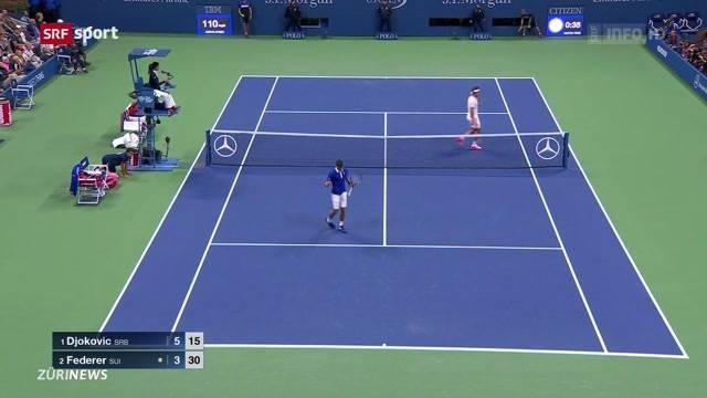 Enttäuschung bei Roger Federer