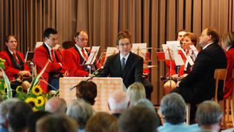 Bettagsfeier: Der Wynentaler Traditionsanlass wurde witterungsbedingt vom Homberg ins Kirchgemeindehaus Reinach verlegt. (to)