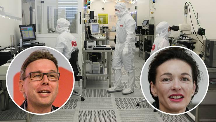 Vor neun Jahren wurde im ABB-Werk in Lenzburg die neue Halbleiterproduktion eingeweiht – nach dem Verkauf der Stromsparte an den japanischen Hitachi-Konzern zittern die Angestellten an diesem Standort um ihre Jobs.