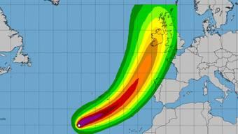 """Hurrikan """"Ophelia"""" wird am Wochenende auf Portugal und Spanien treffen."""