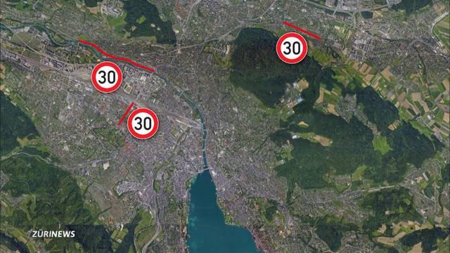 Tumult um Tempo-30-Versuch in Zürich