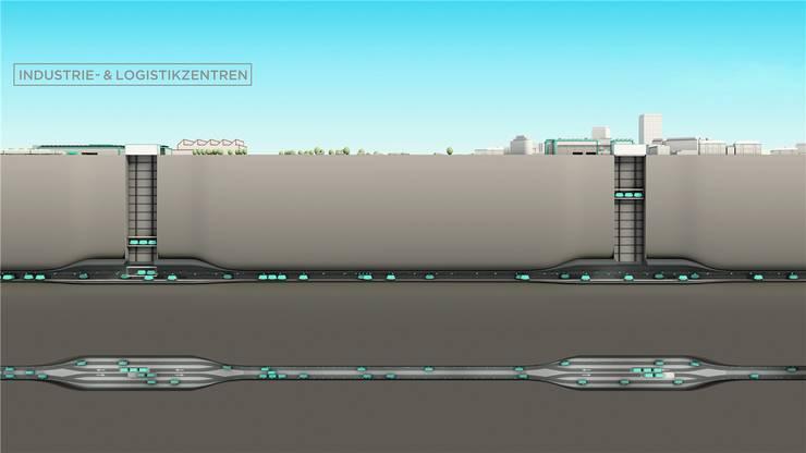 Die überschüssigen Milliarden könnten in die Infrastruktur gesteckt werden: Zum Beispiel die Waren-Metro «Cargo sous Terrain».