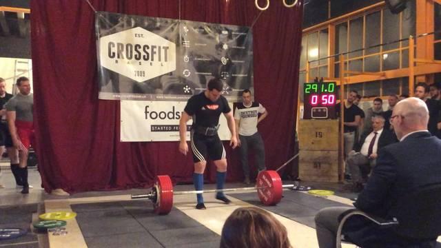 Der Weltrekord von Ramon Gysin in der Kategorie Kreuzheben: 291kg