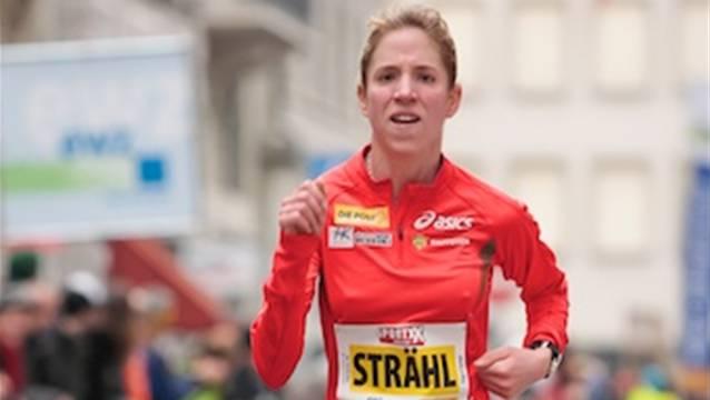Berglaufspezialistin Martina Strähl versucht sich im Marathon. Quelle: ZVG