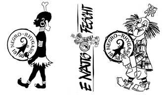 Die Gugge wurde wegen ihres Männleins im Logo kritisiert. Nun trägt ein Clown die Trommel der Negro-Rhygass.