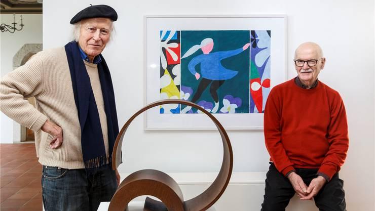 Ganz unterschiedliche Künstlerpersönlichkeiten, die sich gut verstehen: Roman Candio (l.) und Jean Mauboulès.