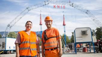 Silja Hänggi und Klemens Martin gehören zum 230-Personen-starken Knie-Team – eine grosse Zirkusfamilie.