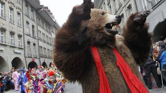 Der Berner Fasnachtsbär vom letzten Jahr (Archiv)