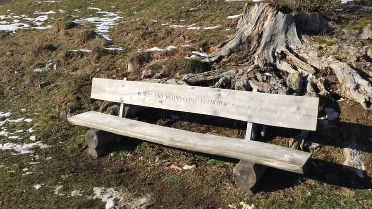 Das Bänkli auf dem Stierenberg.